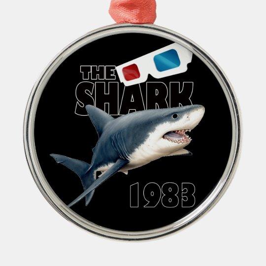 Hajfilmen Rund Silverfärgad Julgransprydnad