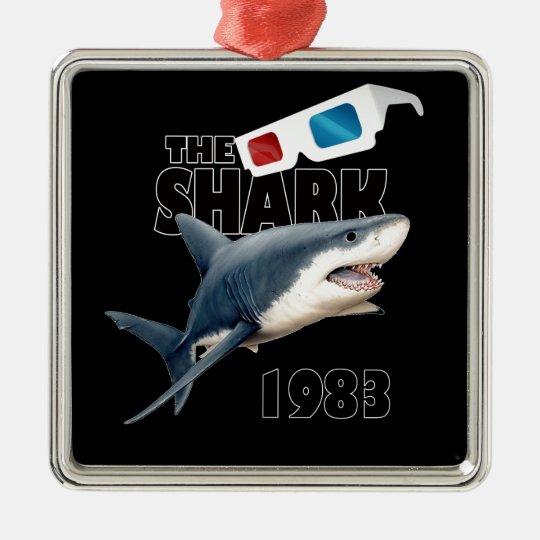 Hajfilmen Silverfärgad Fyrkantigt Julgransprydnad