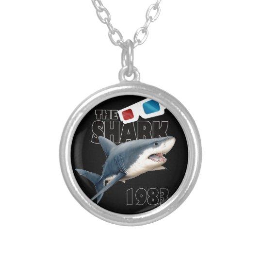 Hajfilmen Silverpläterat Halsband