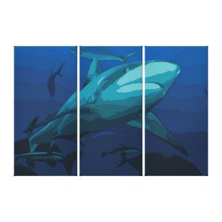 Hajkanvastryck - canvastryck