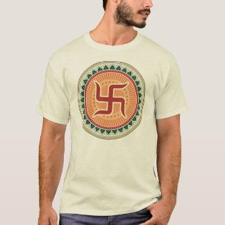 Hakkors med traditionell indisk stil Mandana T Shirts
