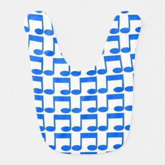 Haklapp för blåttmusik noterbaby hakklapp