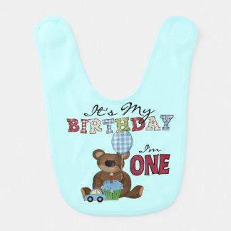 Haklapp för födelsedag för pojkebjörn 1st