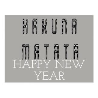 Hakuna Matata gott nytt år Vykort