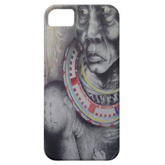 Hakuna Matata med lejon och Masai.jpg iPhone 5 Case-Mate Skydd