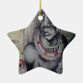 Hakuna Matata med lejon- och Masaistjärnaprydnaden Juldekoration