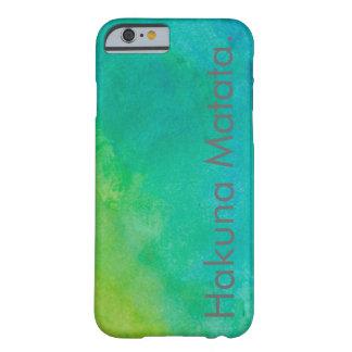 Hakuna Matata vattenfärg Barely There iPhone 6 Skal