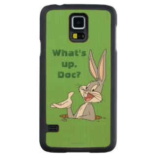 Hål för BUGS BUNNY ™kanin Carved Lönn Galaxy S5 Skal