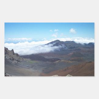Haleakala Hawaii Rektangulärt Klistermärke
