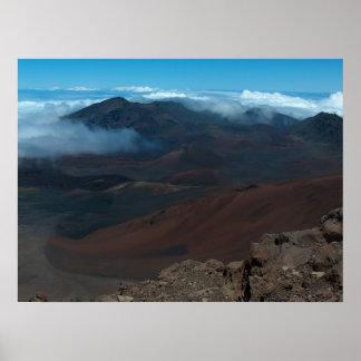 Haleakala krater poster