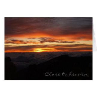 Haleakala nästan himmel hälsningskort