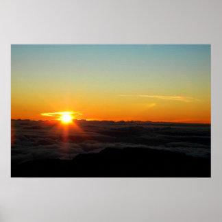 Haleakala soluppgång poster