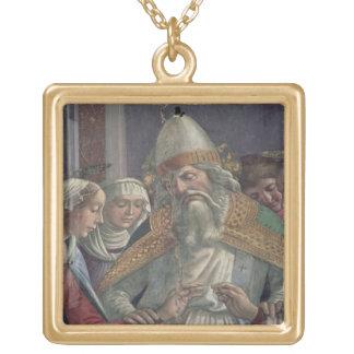 Häleri ringen, från giftermål av Virgien Guldpläterat Halsband