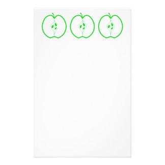 Half. vit och gröna Apple Brevpapper