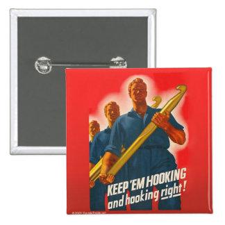 Håll dem att haka - för att knäppas standard kanpp fyrkantig 5.1 cm