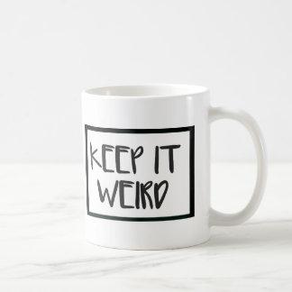 Håll det den kusliga muggen kaffemugg