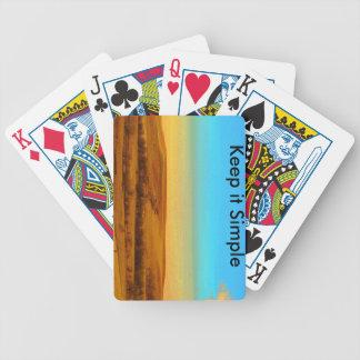Håll det enkla leka kort spelkort