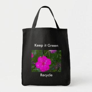 Håll det grönt, återvinna tygkasse