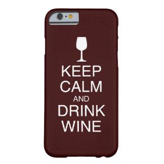 Håll det lugna och för drinkviniPhone 6 fodral Barely There iPhone 6 Skal