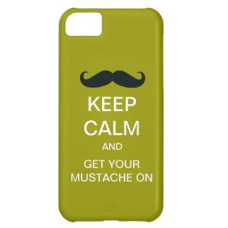 Håll det lugnaa roliga fodral för mustaschiPhone 5 iPhone 5C Fodral