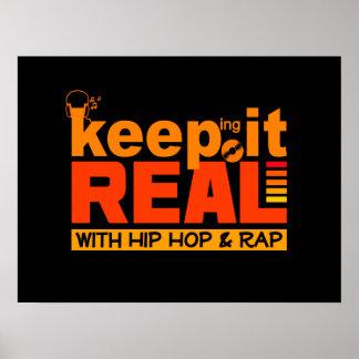 Håll det verkligt med hip hopaffischen poster