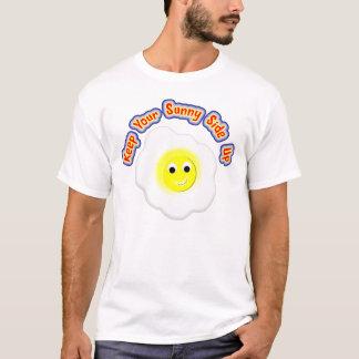 Håll din soliga sida upp det novelty stekte ägget tshirts