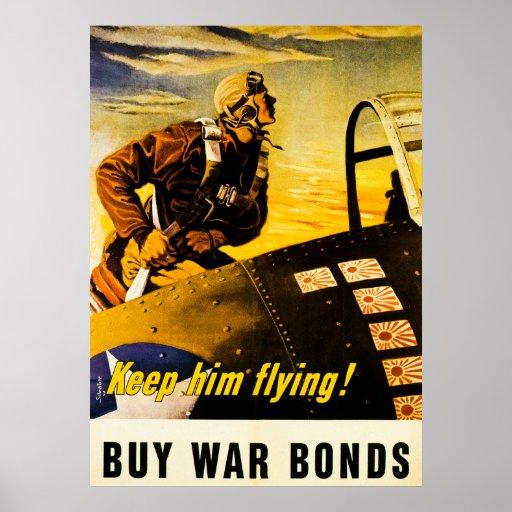 Håll honom flyget!  Köpkrigförbindelser - vintage Affisch