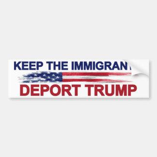 Håll invandrarna för att deportera trumf bildekal