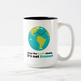 Håll jorden ren Två-Tonad mugg