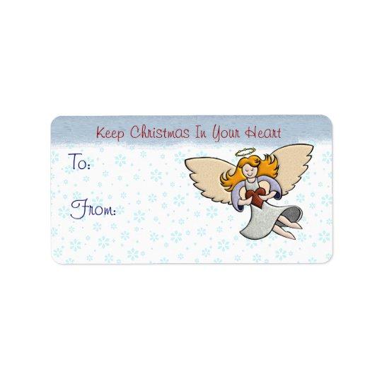 Håll jul i din hjärta adressetikett