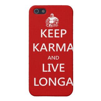 håll karma och bo longaen iPhone 5 hud