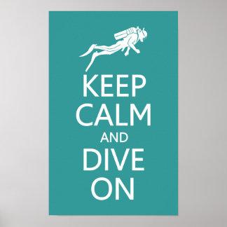 Håll lugn & dyka på den beställnings- poster