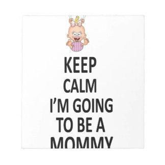 Håll lugn mig förmiddagen att gå att vara en mamma anteckningsblock