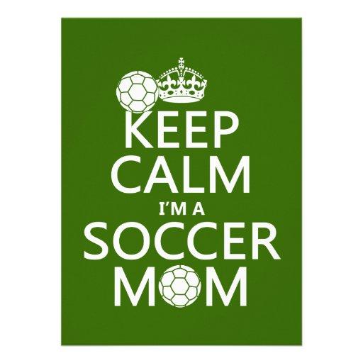 Håll lugn mig förmiddagen en fotbollmamma (i någon anpassade inbjudningskort