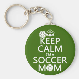 Håll lugn mig förmiddagen en fotbollmamma (i någon nyckelring