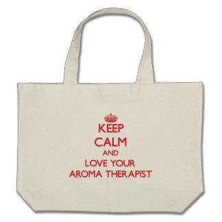 Håll lugn och älska din aromterapeut kasse