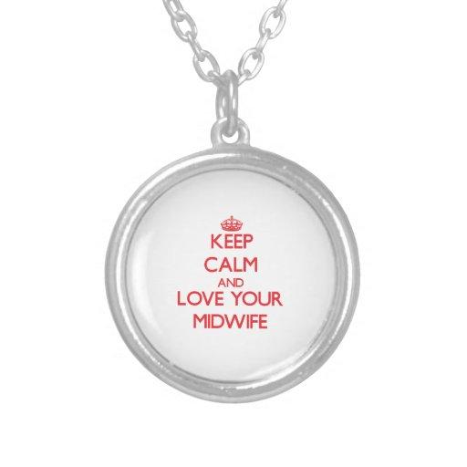 Håll lugn och älska din barnmorska anpassningsbara smycken