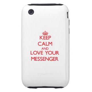 Håll lugn och älska din budbärare tough iPhone 3 case