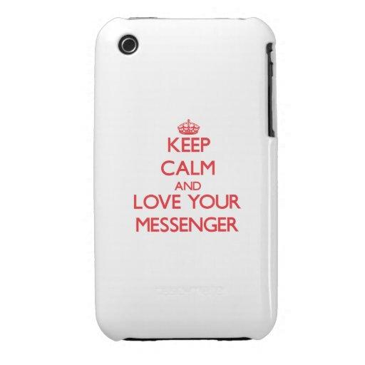 Håll lugn och älska din budbärare iPhone 3 Case-Mate case
