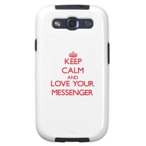 Håll lugn och älska din budbärare galaxy SIII cases