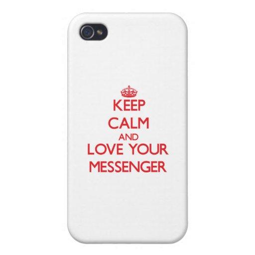 Håll lugn och älska din budbärare iPhone 4 fodral