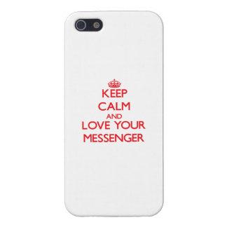 Håll lugn och älska din budbärare iPhone 5 cases