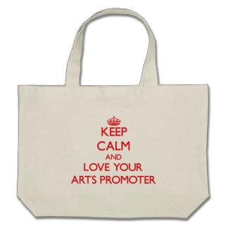Håll lugn och älska din konsttillskyndare tygkasse