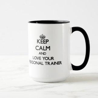 Håll lugn och älska din personliga instruktör mugg
