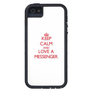 Håll lugn och älska en budbärare iPhone 5 Case-Mate skydd