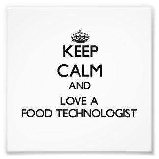 Håll lugn och älska en matTechnologist Foto
