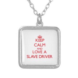 Håll lugn och älska en slav- chaufför skräddarsydda halsband