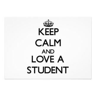 Håll lugn och älska en student tillkännagivanden