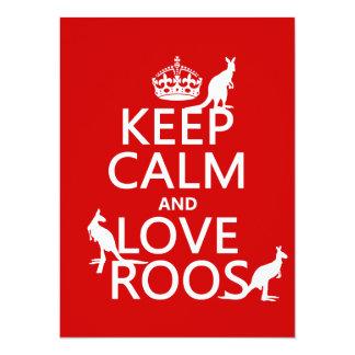 Håll lugn och älska 'Roos (kängurun) - all färgar 14 X 19,5 Cm Inbjudningskort