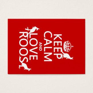 Håll lugn och älska 'Roos (kängurun) - all färgar Visitkort